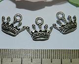 Подвеска металлическая серебристая Корона 13х15мм
