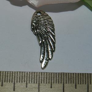 Подвеска металлическая серебристая Крыло 11х23мм
