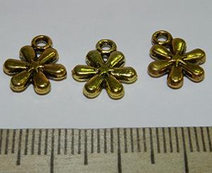 Подвеска металлическая золотистая Цветок 11х13мм