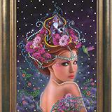 """Набор картина со стразами """"Королева цветов"""" Преобрана ПРБ-0108"""