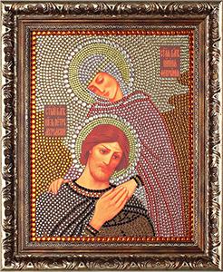 """Набор картина со стразами """"Петр и Феврония"""" Преобрана ПРБ-0058"""
