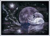 """Набор для вышивания """"Лунный лебедь"""" Панна ПТ-0631 (крестик)"""