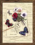 """""""Бабочки и анемоны"""" Риолис РТ-0002 (крестик)"""