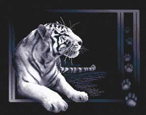 """Набор для вышивания """"Белый тигр"""" Панна Ж-0277 (крестик)"""