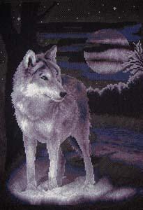 """Набор для вышивания """"Белый волк"""" Панна Ж-0462 (крестик)"""