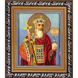 Рамка № 2 11.8х14.2 / Под иконы с ювелирным бисером, со стеклом