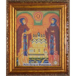 Рамка со стеклом №34 Петр и Февронья 19,8х25,2 см