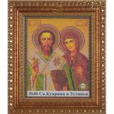 Рамка со стеклом №40 Св Куприян и Устинья 18,5х23,1 см