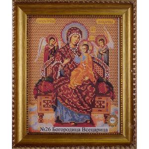 Рамка со стеклом №26 Богородица Всецарица 20,9х26,2 см