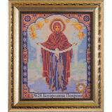 Рамка со стеклом №28 Богородица Покрова 20,2х24,8 см
