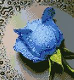 "Набор ""Синяя роза"" картина-мозаика АЛМАЗНАЯ ЖИВОПИСЬ АЖ.015"