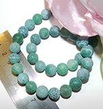 Бусина Агат африканский зелен 10