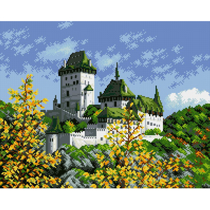 "Набор ""Древний замок"" картина-мозаика АЛМАЗНАЯ ЖИВОПИСЬ АЖ.1044"