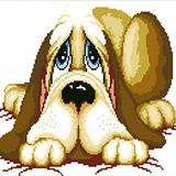 """Набор """"Сонный пес"""" картина-мозаика АЛМАЗНАЯ ЖИВОПИСЬ АЖ.322"""