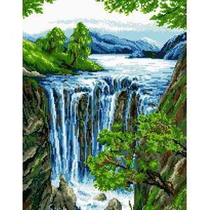 "Набор ""Водопад"" картина-мозаика АЛМАЗНАЯ ЖИВОПИСЬ АЖ.1042"