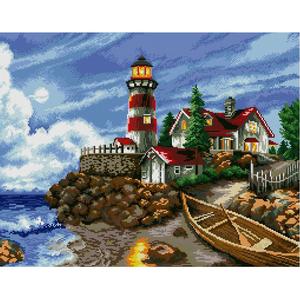 "Набор ""Огни маяка"" картина-мозаика АЛМАЗНАЯ ЖИВОПИСЬ АЖ.1048"
