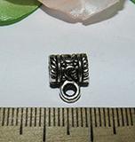 Бейл металлический серебристый Антик 9х12х6мм
