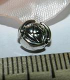 Бусина металлическая серебристая диск 7х3мм Ser_5