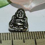 Бусина металлическая серебристая Будда 11х9х7мм Ser_7