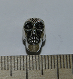 Бусина металлическая серебристая Череп 12х8х10мм Ser_22