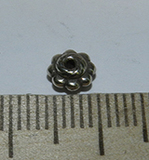 Бусина металлическая серебристая разделитель 3х6мм Ser_36