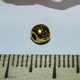 Бусина металлическая золотистая с рисунком 5х4мм Zol_03