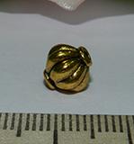Бусина металлическая золотистая Фонарик 8мм Zol_12