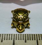Бусина металлическая золотистая Черепаха 14х8мм Zol_18
