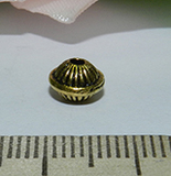 Бусина металлическая золотистая диск 7х5мм Zol_13