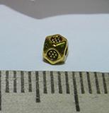 Бусина металлическая золотистая с гранями 4мм Zol_20