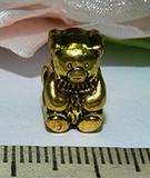 Бусина металлическая золотистая Мишка 13х10мм Zol_16