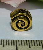 Бусина металлическая золотистая Завиток 9х5мм Zol_15