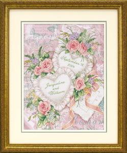 """Набор для вышивания DIMENSIONS """"Два сердца"""" DMS-03217 (печатный крест)"""