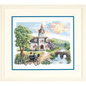 """Набор для вышивания DIMENSIONS """"Деревенская церковь"""" DMS-03227 (крестик)"""