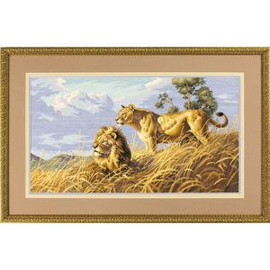 """Набор для вышивания DIMENSIONS """"Африканские львы"""" DMS-03866 (крестик)"""