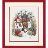 "Набор для вышивания DIMENSIONS ""Снеговик во дворе"" DMS-08817 (крестик)"