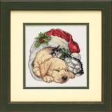 """Набор для вышивания DIMENSIONS """"Щенок и котенок Рождественским утром"""" DMS-08826 (крестик)"""
