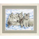 """Набор для вышивания DIMENSIONS """"Волчица и волчата""""DMS-13130 (печатный крест)"""