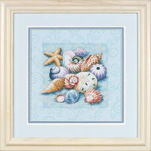 "Набор для вышивания DIMENSIONS ""Ракушки на голубом"" DMS-13725 (крест)"