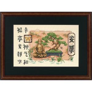 "Набор для вышивания DIMENSIONS ""Бонсаи и Будда"" DMS-35085 (крест)"