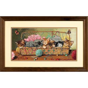 """Набор для вышивания DIMENSIONS """"Новорожденные котята"""" DMS-35184 (крестик)"""