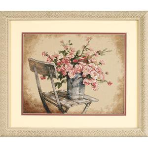 """Набор для вышивания DIMENSIONS """"Розы на белом стуле"""" DMS-35187 (крестик)"""