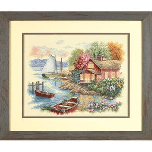 """Набор для вышивания DIMENSIONS """"Спокойный дом у озера"""" DMS-35230 (крест)"""