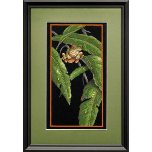 """Набор для вышивания DIMENSIONS """"Древесная лягушка в листве"""" DMS-35251 (крестик)"""
