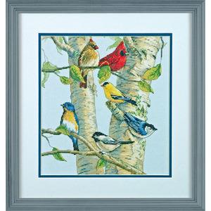 "Набор для вышивания DIMENSIONS ""Птички на березе"" DMS-35252 (крест)"