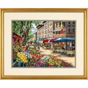 """Набор для вышивания DIMENSIONS """"Рынок в Париже"""" DMS-35256 (крестик)"""