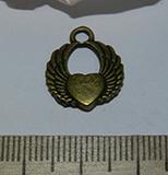 Подвеска металлическая бронзовая Сердце 15х18мм