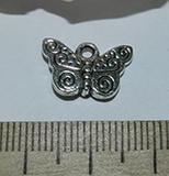 Подвеска металлическая серебристая Бабочка 10х16мм
