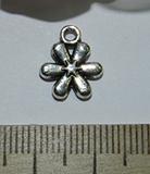 Подвеска металлическая серебристая Цветок 11х13мм