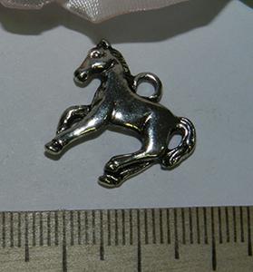 Подвеска металлическая серебристая Лошадь 18х20мм